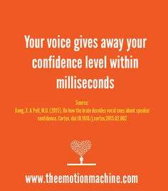 Psychology Study: Your voice gives away your confidence level within milliseconds.