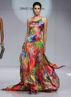 Mexico Fashion Week: David Salomon  Spring 2009  Beautiful vibrant colors