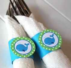 whale & anchor napkin | Free Download Birthday Parties Blue Ocean Preppy First Theme HD ...