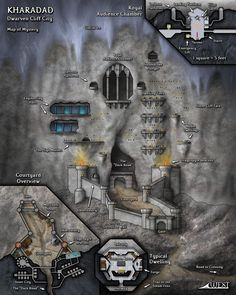 Kharadad is a dwarven gate-city carved out of the side of a cliff in the Forsaken Rift. It guards one of the only paths into the Rift.