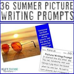 Summer Writing Prompts | Camping, Hiking, & Back to School Writing Activities | 2nd, 3rd, 4th, 5th, 7th, 8th grade, Activboard Activities, Creative Writing, Fun Stuff, Homeschool, Literacy Center Ideas, Middle School, Summer, Writing