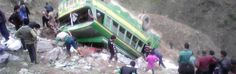 The ill-fated bus after accident near Bidwan on Doda-Dhara RoadExcelsior Photo