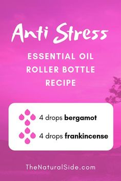 Anti-Stress 4 drops bergamot + 4 drops frankincense 15 Best Essential Oil Roller Bottle Recipes for Beginners Essential Oils For Headaches, Essential Oil Diffuser Blends, Essential Oil Uses, Doterra Essential Oils, Doterra Blends, Doterra Diffuser, Yl Oils, Bergamot Essential Oil, Frankincense Essential Oil