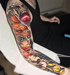 Top Best Sleeve Tattoo Design Ideas for 2019 Part ; sleeve tattoos for men; sleeve tattoos for women; sleeve tattoos with meaning Tattoos Mandala, Forearm Tattoos, Body Art Tattoos, Girl Tattoos, Tattoos For Guys, Black Tattoos, Ireland Tattoo, Tattoo Dublin, Naruto Tattoo