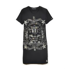 c3a6a71ccf42 Short mastermind Japan Diamonds Black Elongated T-Shirt For Girls ·  Mastermind JapanChrome HeartsCheap T ShirtsShirts ...