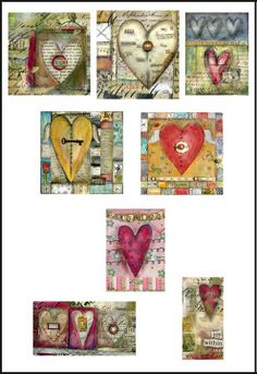 by Lisa Kaus. Now these are valentines. Her hearts inspire me to be more inventive.