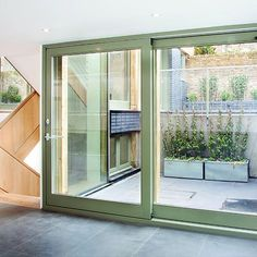 Contemporary Timber Sliding Door & In this fitout for Serraview Criterion Industries supplied the ...