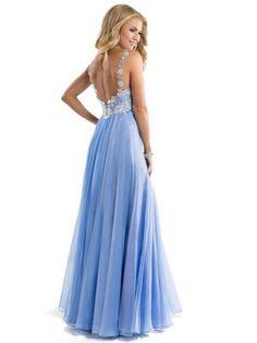 Straps Sleeveless A-line/Princess Chiffon Applique Lace Floor-length Prom Dress - Party Dresses - Sweet Dressy