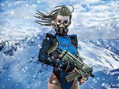 Snow Warrior by Lilith-Storm.deviantart.com on @DeviantArt #genesis #victoria #dazstudio #3d #digital #daz #woman #lilith #poser #vue  #dark #digital #art #fantasy #girl #darkness