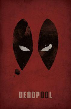 Deadpool Minimalist Poster Marvel by WestGraphics on Etsy