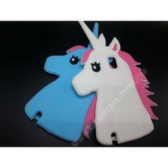 Carcasa silicona 3D diseño unicornio para Galaxy Note 4