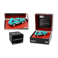 "1958 Chevrolet Corvette Turquoise ""Under The Hood"" 1/64 Diecast Model Car by Greenlight"