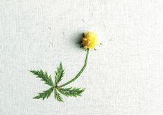 花刺しゅう「タンポポ」