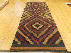 "5'0""X11'11"" Kelim Multicolor Turkish Wool Oriental Rug FREE SHIPPING"