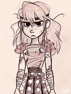 """""""Stupid Braid"""" - when Astrid was little. I can totally see her character as a little girl. XD"""