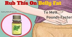 Buddha Belly? Muffin Top? Rub This On Belly Fat To Melt Pounds Faster -
