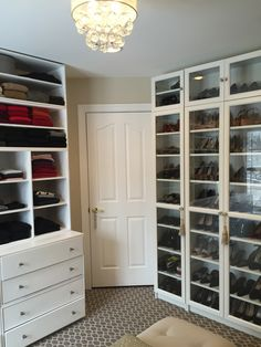 ikea billy bookcases for shoes!