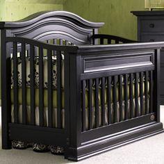 Sheffield Distressed Black Lifestyle Convertible Crib
