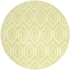 Safavieh Hand-woven Moroccan Dhurrie Green Wool Rug (6' Round) | Overstock.com Shopping - The Best Deals on Round/Oval/Square