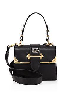 c366ae0c94f Prada Cahier Leather Handbag Prada Handbags, Fashion Handbags, Purses And  Handbags, Fashion Bags