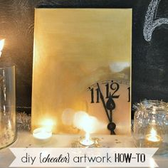 Diy Home Decor: Cheater Art Tutorial - Learn How To Make Your Own Artwork: diy cheater style! This is a simple way to turn a canvas and printed photo into pretty art for your home. Both cheap. and easy! Home Wall Decor, Diy Home Decor, Cute Crafts, Diy Crafts, Wall Art Crafts, Diy Artwork, Dream Decor, Spring Crafts, Design Crafts