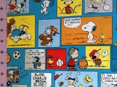 Peanuts Sports Fabric By The Yard FBTY on Etsy 1b9026d79