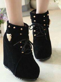 High Heels Wedge Short Boots
