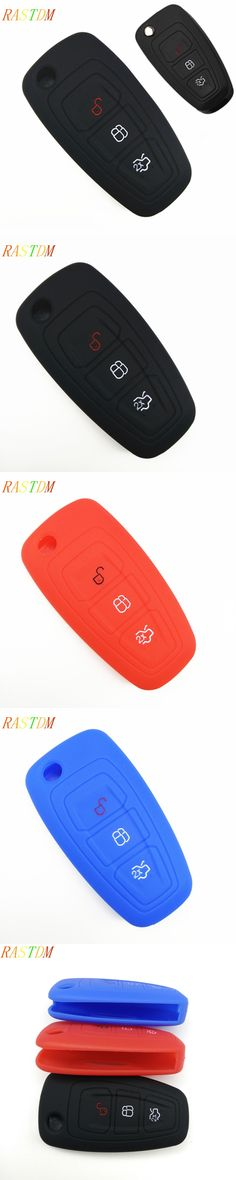 1 Silicone car smart key cover remote bag fit for Ford Focus 3 MK3 ST RS Ecosport kuga escape New fiesta , 3 Buttons smart key