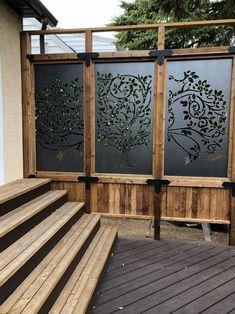 Patio Privacy Screen, Privacy Fence Designs, Outdoor Privacy, Backyard Privacy, Backyard Patio, Privacy Screens, Decks With Privacy Walls, Pergola Screens, Outdoor Screens