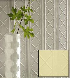 Paintable Textured Wallpaper- Bamboo pattern for half the wall, to chair rail