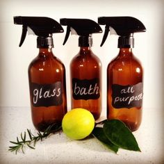 Make your own cleaners - recipes