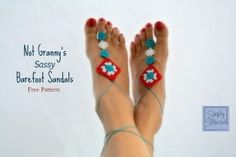 Make It Crochet | Your Daily Dose of Crochet Beauty | Free Crochet Pattern: Not Granny's Barefoot Sandals