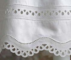 Sew Beautiful Blog: Sew a Wavy Swiss Hem Treatment