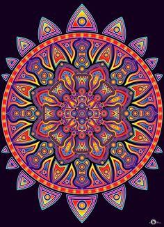 """Flower Mandala"" by D3T72"