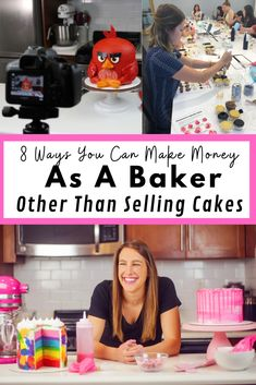 As crazy as it sounds, I'm a baker that doesn't sell her cakes! Learn how I make my living through a variety of different revenue streams. Home Bakery Business, Baking Business, Catering Business, Cake Business, Bakery Store, Bakery Cafe, Bakery Decor, Bakery Menu, Bakery Ideas