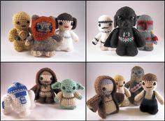 PDFs of all 14 Star Wars Mini Amigurumi Patterns par lucyravenscar, $37.00