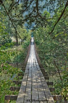 WV - Swinging Bridge over North Fork / Grant County, West Virginia / by BK Photography