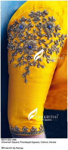 Hand Work Blouse Design, Kids Blouse Designs, Simple Blouse Designs, Stylish Blouse Design, Pattu Saree Blouse Designs, Blouse Designs Silk, Bridal Blouse Designs, Embroidery Neck Designs, Couture