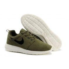 new arrival 412e3 ce524 Nike Roshe Run Leder Braun Weiß Grau Männer