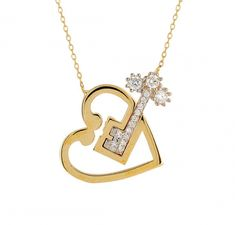 Kalbimin Anahtarı Altın Kolye #anahtarkolye #kalpkolye #kalbiminanahtarıkolye https://www.besaygold.com/Altin/Kolye