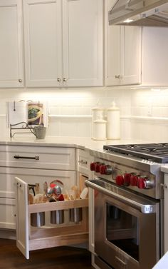 Handy utensil pull-out. Deer Run Kitchen Remodel. Martin Bros. Contracting, Inc.
