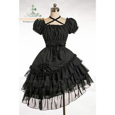 Pirate Lolita Bias Tiered Frill Trimmings Dress&Hair Dress*2color Instant Shipping