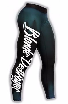 Blond Destroyer Women s Fitness Leggs  Gym tights  Sport pants  Legging  Size M bc26503b2999a