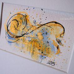 Die erste Wohltat erzählte von den Hoffnungen und vom Glanz der Zukunft. #wandklex #malerei #handgemalt #aquarell #kunst #art #watercolor #watercolour #etsygifts #etsyfindes #etsyseller #etsyfinds #abstract #abstractpainting