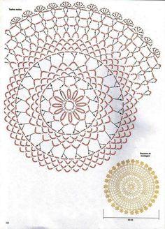 Round doilies brownie z solonym karmelem - Brownie Crochet Dollies, Crochet Doily Patterns, Crochet Diagram, Crochet Art, Crochet Home, Thread Crochet, Crochet Granny, Crochet Motif, Vintage Crochet