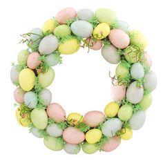 Pastel Glitter Egg Wreath $29.99