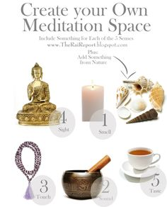 5 Steps to Create Your Own Meditation Space by en.paperblog #Meditation_Space #DIY