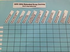 School Librarian in Action: Extended Essay Journey: Progress Chart