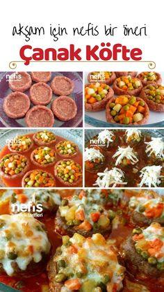 Bol Garnitürlü Çanak Köfte Tarifi nasıl yapılır? 18.421 kişinin defterindeki bu tarifin resimli anlatımı ve deneyenlerin fotoğrafları burada. Yazar: Hilal'in Mutfağı Baby Food Recipes, Salad Recipes, Chicken Recipes, Dinner Recipes, Healthy Recipes, Simple Baked Beans Recipe, Baked Bean Recipes, Healthy Christmas Party Food, Turkish Recipes