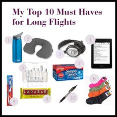 My Top 10 Must Haves for Long Flights - Kid Free Travel #top10 #essentials